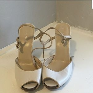 Nine west open toes shoes, size 7.5,